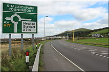 NX1896 : Approaching Shallochpark Roundabout by Billy McCrorie