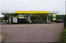NT1772 : Morrisons filling station, South Gyle Broadway, Gyle, Edinburgh by P L Chadwick