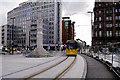 SJ8397 : Tram Passing St Peter's Cross by David Dixon