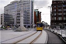 SJ8397 : Tram Passing St Peter's Cross by David Dixon