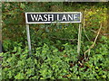 TM1485 : Wash Lane sign by Adrian Cable