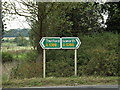TL9271 : Roadsigns on the A1088 Thetford Road by Adrian Cable