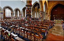 TA0322 : Barton on Humber, St. Mary's Church: The attempt to beat the world record (15,534) for knitted teddy bears 4 by Michael Garlick