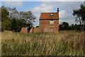 SE4955 : Abandoned House near Trotters Farm by Chris Heaton