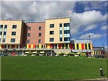 SJ8545 : Royal Stoke University Hospital: ambulances outside A&E by Jonathan Hutchins