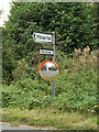 TL9565 : Roadsigns off the A1088 Ixworth Road by Adrian Cable