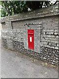 TL9566 : Stanton Farm Edward VII Postbox by Adrian Cable