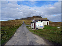 HT9737 : Foula airfield buildings by John Lucas