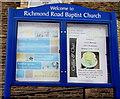 ST2996 : Information board outside Richmond Road Baptist Church, Pontnewydd, Cwmbran by Jaggery