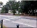 SZ1491 : Southbourne: zebra crossing on Belle Vue Road by Chris Downer