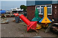 SU6800 : Buoys in the yard by the Hayling Island Ferry by David Martin