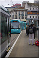 SK5739 : Trams in the Old Market Square by Stephen McKay