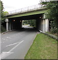 SJ3250 : West side of the A483 bridge over Berse Road, Wrexham by Jaggery