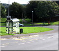 ST3091 : Your Speed indicator alongside a Rowan Way bus shelter, Malpas, Newport by Jaggery