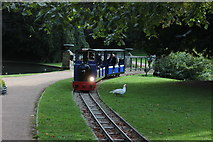 SK0573 : Buxton Pavilion Gardens train by Robert Eva