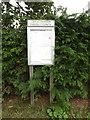TL9067 : Great Baron Village Notice Board by Adrian Cable