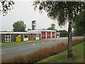 SE6131 : Selby  Fire  Station  over  Canal  Road by Martin Dawes