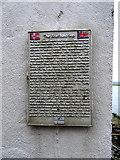 HU4039 : The 'Shetland Bus' plaque, Scalloway by John Lucas