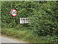 TL9267 : Pakenham Village Name sign on Ixworth Road by Geographer