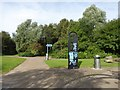 SJ8748 : Festival Park: cycle paths by Jonathan Hutchins