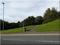 SJ8748 : Festival Park: public footpath joins Greyhound Way by Jonathan Hutchins