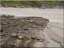 NC4465 : Stream erosion on the beach at Tràigh Allt Chàilgeag by Oliver Dixon