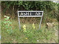 TM1191 : Ash Lane sign by Adrian Cable