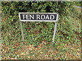 TM1191 : Fen Road sign by Adrian Cable