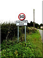 TM1192 : Carleton Rode Village Name sign on Church Road by Adrian Cable