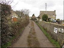 SO8700 : Private road to Glebe Farm, Minchinhampton by Jaggery