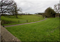 SO8700 : Entrance drive to Bubblewell House near Minchinhampton by Jaggery