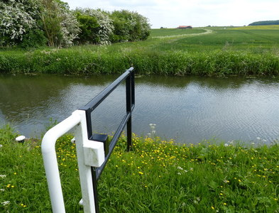 SK7492 : Gate on the towpath of the Chesterfield Canal by Mat Fascione