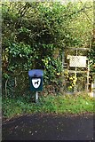 SP2705 : Dog waste bin and sign, near Carterton, Oxon by P L Chadwick