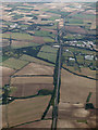 TL5045 : The A11 road from the air by Thomas Nugent