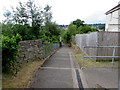 ST5494 : Steps down from Tutshill to the A48 near Chepstow by Jaggery