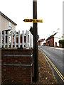 TM1179 : B1077 Denmark Street & Gospel Hall sign by Adrian Cable