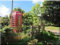 NT8120 : Telephone box (as was) at Belford by Oliver Dixon