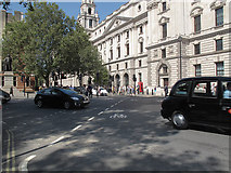 TQ3079 : Tiger crossing, Parliament Square by Stephen Craven