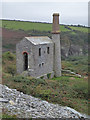 SX0786 : Prince of Wales Quarry - engine house by Chris Allen