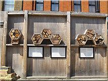 TQ3280 : Cross Bones Garden - insect hotel by Stephen Craven