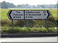 TM1588 : Roadsigns on the B1134 Long Row by Adrian Cable