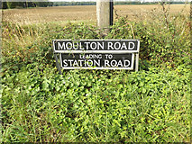 TM1587 : Moulton Road sign by Adrian Cable