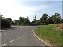 TM1587 : B1134 Heath Road, Sneath Common by Adrian Cable