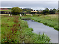SJ9422 : The River Penk east of Stafford by Roger  Kidd