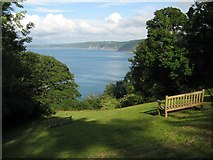 SS3124 : View of the north Devon coast by Philip Halling