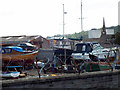 NS3174 : Boatyard by the Firth of Clyde by Thomas Nugent