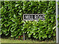 TM1686 : Mill Road sign by Geographer