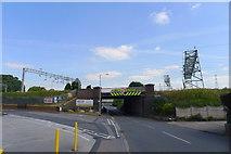 SK0418 : Railway bridge over Colton Road by Tim Heaton