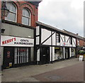 SJ3350 : Henry's Gents Hairdressers in Wrexham by Jaggery