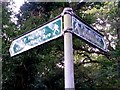 SZ1194 : Strouden: sign for footpaths K18 and K30 by Chris Downer